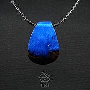 Украшения handmade. Livemaster - original item The pendant is made of Wenge wood and resin jewelry. Handmade.