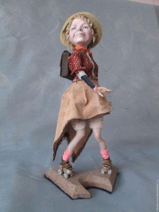 Коллекционные куклы ручной работы. Ярмарка Мастеров - ручная работа. Купить Дама на роликах. Handmade. Кремовый