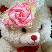 Украшения ручной работы. Ярмарка Мастеров - ручная работа Розовый букет повязка для волос. Handmade.