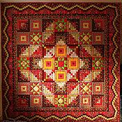 Для дома и интерьера ручной работы. Ярмарка Мастеров - ручная работа Лоскутное одеяло МОСКОВСКИЙ КРЕМЛЬ покрывало. Handmade.