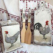 Для дома и интерьера ручной работы. Ярмарка Мастеров - ручная работа комплект для кухни в стиле кантри/прованс: короб, дощечка, лопаточки. Handmade.
