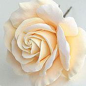 Свадебный салон ручной работы. Ярмарка Мастеров - ручная работа Роза айвори для прически невесты. Handmade.