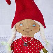 Куклы и игрушки ручной работы. Ярмарка Мастеров - ручная работа Гномочка в красном колпаке. Handmade.