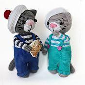 Куклы и игрушки handmade. Livemaster - original item Knitted toy Seal sailor Jeremy. Handmade.