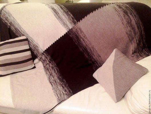 Текстиль, ковры ручной работы. Ярмарка Мастеров - ручная работа. Купить Вязаный плед с подушками. Handmade. Плед вязаный, плед