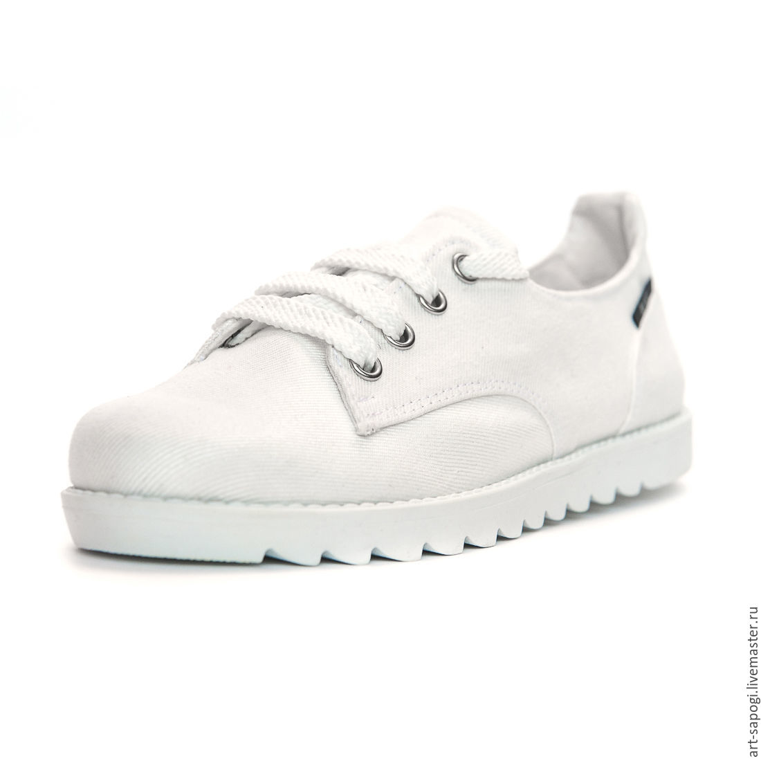 White denim sneakers, Training shoes, Moscow,  Фото №1