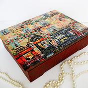 Для дома и интерьера ручной работы. Ярмарка Мастеров - ручная работа Шкатулка Старый Париж. Handmade.