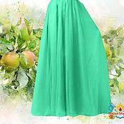 """Одежда ручной работы. Ярмарка Мастеров - ручная работа юбка из натурального шифона """"Яблочная"""". Handmade."""