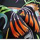 """Шали, палантины ручной работы. Платок из натурального шёлка """"Марш Замбии"""" Hermes. Lady AKT. Ярмарка Мастеров. Зебра, леопард"""