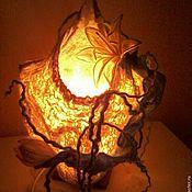 Для дома и интерьера ручной работы. Ярмарка Мастеров - ручная работа Светильник с Лотосом. Handmade.