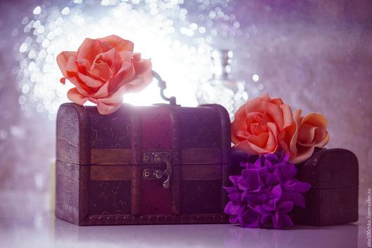 Заколки ручной работы. Ярмарка Мастеров - ручная работа. Купить Персиковая роза. Handmade. Чайная роза, заколка для волос, брошь
