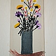 """Картины цветов ручной работы. Ярмарка Мастеров - ручная работа. Купить картина """" Полевые цветы"""". Handmade. Разноцветный"""