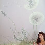 Дизайн и реклама ручной работы. Ярмарка Мастеров - ручная работа роспись стен в спальне. Handmade.