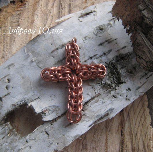 Оберег. Кольчужное плетение. Крест.