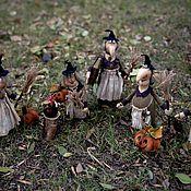Куклы и игрушки ручной работы. Ярмарка Мастеров - ручная работа Хэллоуинские забавы интерьерная игрушка Ведьма. Handmade.