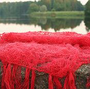 """Аксессуары handmade. Livemaster - original item Red scarf """"Blow"""". Handmade."""
