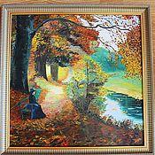 """Картины и панно ручной работы. Ярмарка Мастеров - ручная работа Картина """"Дама в осеннем парке"""". Handmade."""
