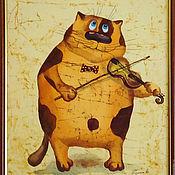 Картины ручной работы. Ярмарка Мастеров - ручная работа Весёлые котики. Handmade.