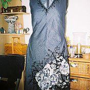 """Одежда ручной работы. Ярмарка Мастеров - ручная работа Вышитое джинсовое платье """"Графит"""". Handmade."""