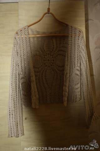 Пиджаки, жакеты ручной работы. Ярмарка Мастеров - ручная работа. Купить Летний кардиган ручной работы лен размер 42-46 1500р. Handmade.