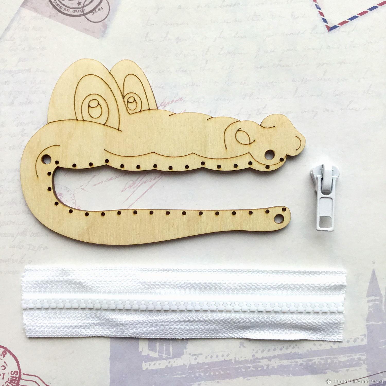 Крокодил. Заготовка под молнию для бизиборда, Бизиборды, Санкт-Петербург,  Фото №1