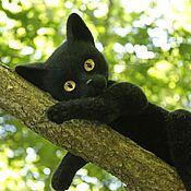 Куклы и игрушки ручной работы. Ярмарка Мастеров - ручная работа Чёрная кошка. Handmade.