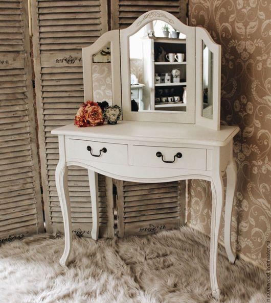 Мебель ручной работы. Ярмарка Мастеров - ручная работа. Купить Туалетный столик. Handmade. Белый, мебель ручной работы, дерево