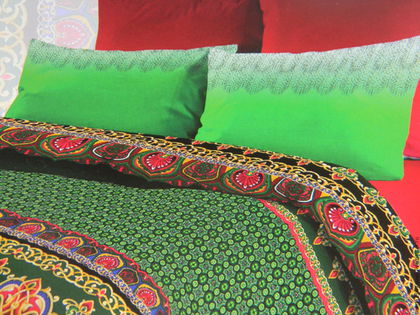 """Текстиль, ковры ручной работы. Ярмарка Мастеров - ручная работа. Купить Постельное белье из бязи """"Казанские мотивы"""" 1,5 - спальный. Handmade."""