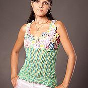 Одежда ручной работы. Ярмарка Мастеров - ручная работа топ  с цветами. Handmade.