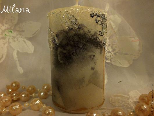 свеча, свеча декупаж. свечи, свечи декупаж, свечи ручной работы, купить свечи, свеча ангел, ангел