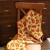 Для дома и интерьера ручной работы. Ярмарка Мастеров - ручная работа Фартук из хлопка с тыквами. Handmade.