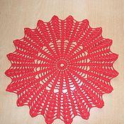 Для дома и интерьера ручной работы. Ярмарка Мастеров - ручная работа Салфетка хлопковая Красно солнышко. Handmade.