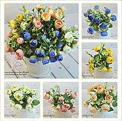 Материалы для творчества ручной работы. Ярмарка Мастеров - ручная работа Цветные камелии (7 расцветок). Handmade.