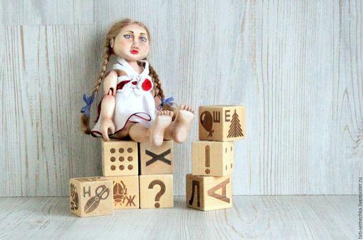 """Коллекционные куклы ручной работы. Ярмарка Мастеров - ручная работа. Купить деревянная кукла """"Аленка"""". Handmade. Белый, wooden doll"""