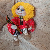 Мягкие игрушки ручной работы. Ярмарка Мастеров - ручная работа Домовёнок Трошка, сувенир каркасная кукла. Handmade.