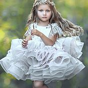 Платья ручной работы. Ярмарка Мастеров - ручная работа Платье для девочки К003. Handmade.