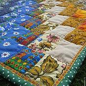 Для дома и интерьера ручной работы. Ярмарка Мастеров - ручная работа Лоскутное одеяло Русское поле. Handmade.