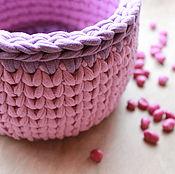 Для дома и интерьера handmade. Livemaster - original item Knitted basket. Handmade.