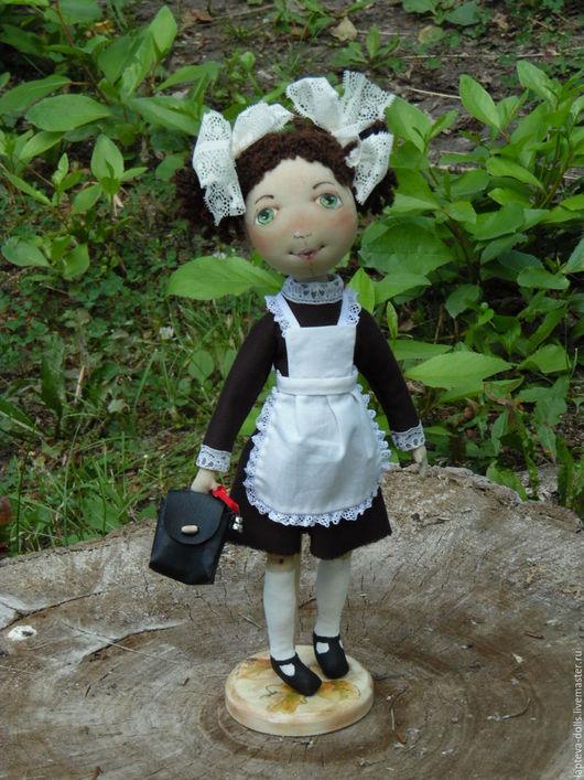 Коллекционные куклы ручной работы. Ярмарка Мастеров - ручная работа. Купить Кукла текстильная Первоклашка. Handmade. Первоклашка, школьная форма