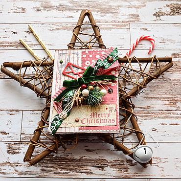 Сувениры и подарки ручной работы. Ярмарка Мастеров - ручная работа Открытка С новым годом Рождеством скрапбукинг подарок новый год 2020. Handmade.