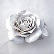 Для дома и интерьера handmade. Livemaster - original item White rose ceramic decorative. Handmade.