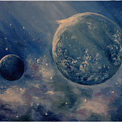 """Картины и панно ручной работы. Ярмарка Мастеров - ручная работа Картина """"Космос"""". Handmade."""