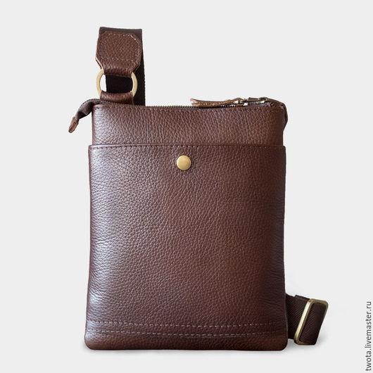 """Мужские сумки ручной работы. Ярмарка Мастеров - ручная работа. Купить Сумка """"Jack's Bag mini"""". Handmade. Сумка, коричневый"""