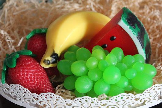 """Мыло ручной работы. Ярмарка Мастеров - ручная работа. Купить Набор """"Фруктовая корзина"""". Handmade. Комбинированный, банан, мыло в подарок"""
