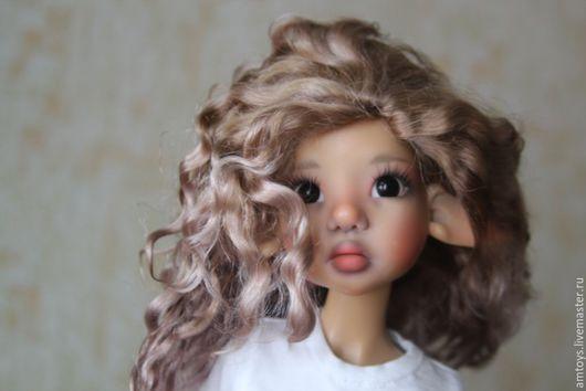 """Куклы и игрушки ручной работы. Ярмарка Мастеров - ручная работа. Купить Для примера. Парик для куклы 7-8"""". Для примера. Handmade."""