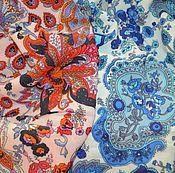 """Одежда ручной работы. Ярмарка Мастеров - ручная работа Юбка (2в1) из итальянской вискозы """"Восточный огурец"""". Handmade."""