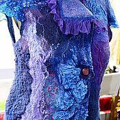 Одежда ручной работы. Ярмарка Мастеров - ручная работа Жилет валяный, нунофелт  «Сине – фиолетовый». Продан. Handmade.