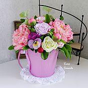 Композиции ручной работы. Ярмарка Мастеров - ручная работа Букет из полимерной глины - Букет розовый. Handmade.