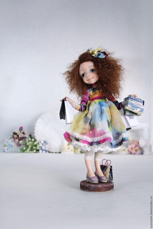 Коллекционные куклы ручной работы. Ярмарка Мастеров - ручная работа. Купить Happy Shopaholic. Handmade. Рыжий, коллекционная кукла, шоппинг