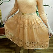 """Одежда ручной работы. Ярмарка Мастеров - ручная работа Платье """"Персик"""" из мохера с шелком. Handmade."""